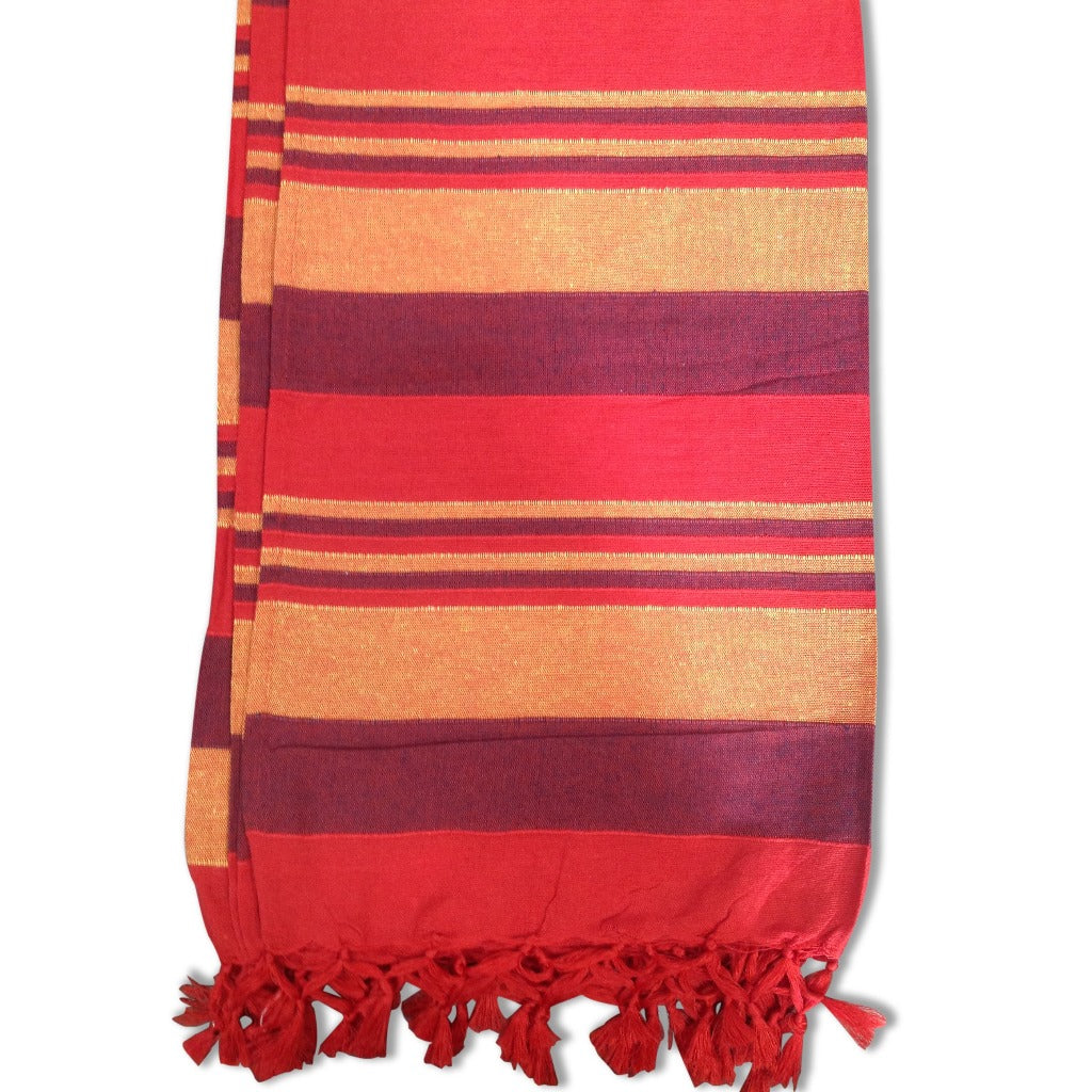 Cotton Throw Rug - Red