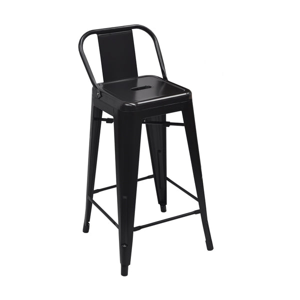 Low Back Replica Tolix Stool (Black)
