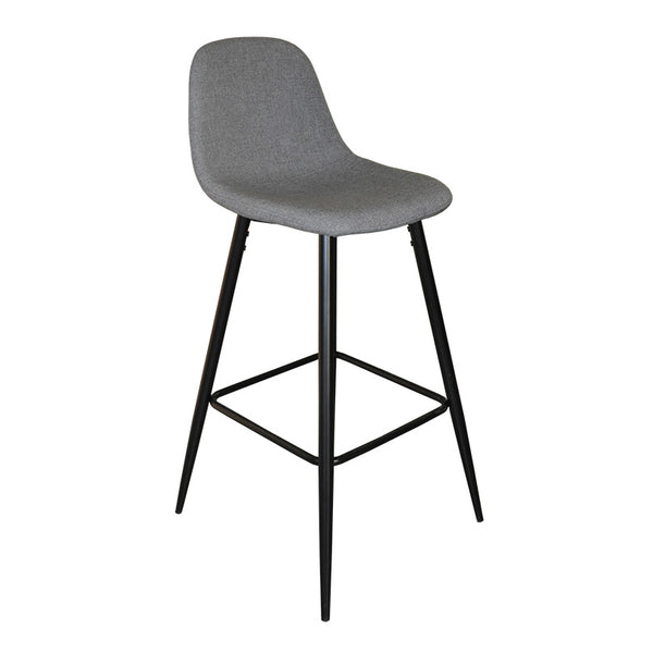 Winona Bar Stool (Grey Fabric)