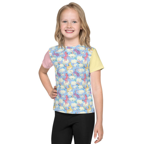 Of Unicorns and Rainbows Kids crew neck t-shirt