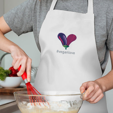 #VeganLove Embroidered Apron