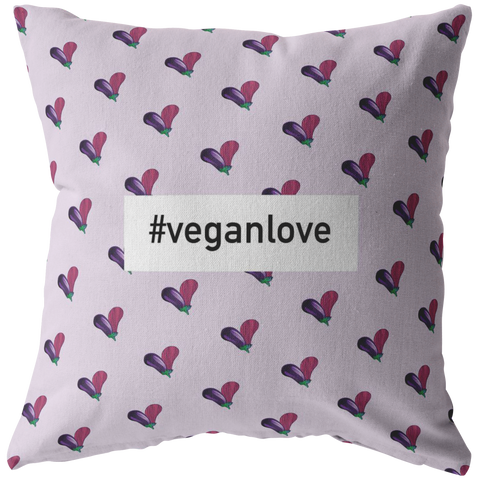 #veganlove Pillow Covers