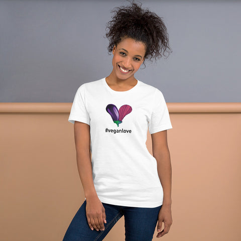 #Veganlove Short-Sleeve Womens T-Shirt