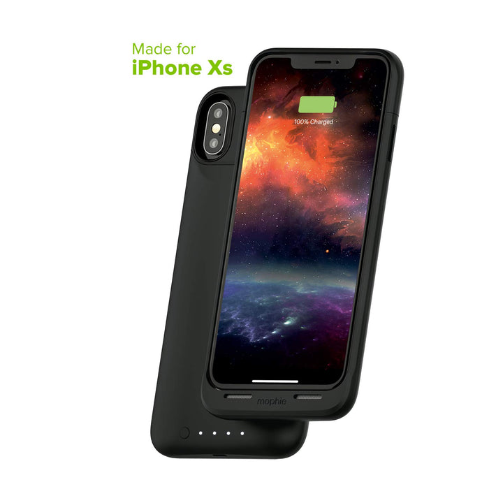 mophie Juice Pack Air - Mfi Certified - Wireless Charging - Protective Battery Pack Case for Apple iPhone Xs/X - Black - Retail
