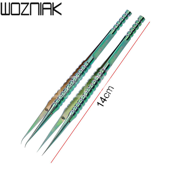 2UUL Straight Head Titanium Alloy Tweezers For Mobile Phone Repair