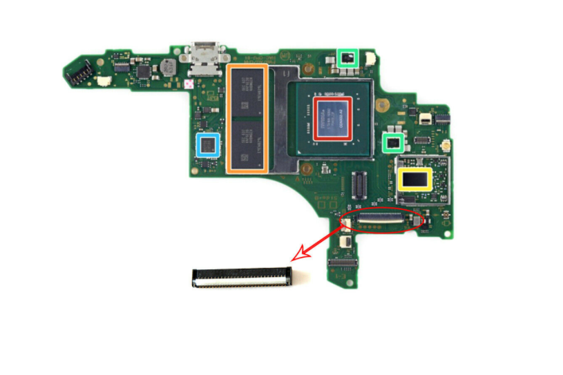 Original Touch Screen Connector Socket Replacement Part for NS Switch Motherboard Repair