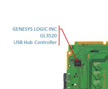 Genesys Logic GL3520 IC USB 3.0 Hub Controller for PS4 CUH-10xxA SAA-001 Repair
