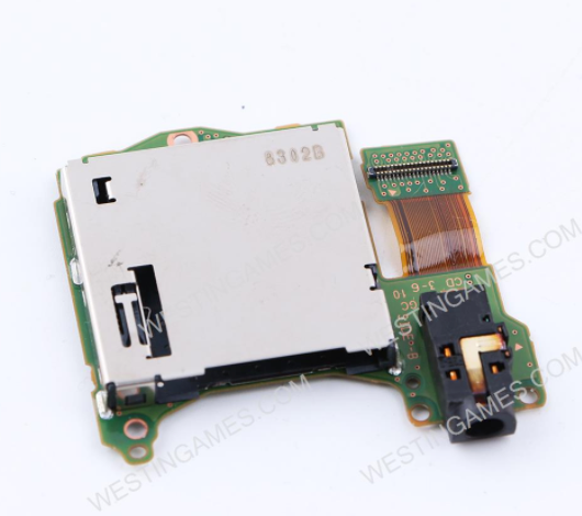 Original Game Card Slot Reader and 3.5MM Audio Jack Part for NS Switch New Version 2nd Gen