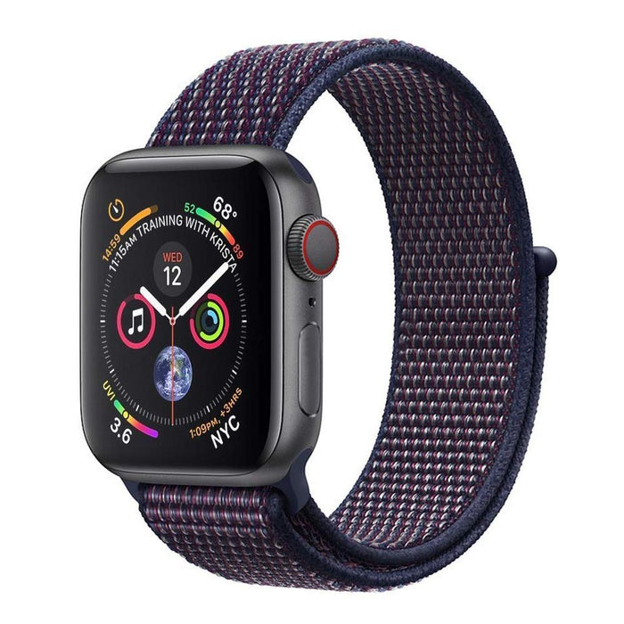 Woven Nylon Band For Apple Watch 38/40mm Sport Loop iWatch Series 5/4/3/2/1