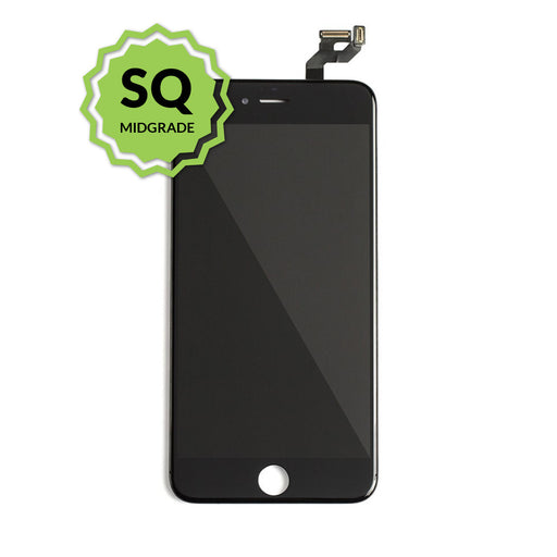 iPhone 6s Aftermarket Replacement LCD Black with full view polarization, 400 Nitts, cold pressed frame with camera brackets, and Dual Driver touch IC