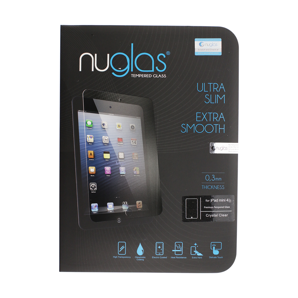 NuGlas Tempered Glass Screen Protector for iPad Mini 4 / Mini 5