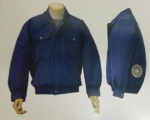 Zipkool polyester long sleeve cooling jacket with Lithium Ion Battery.