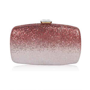 Ombre Clutch - Red