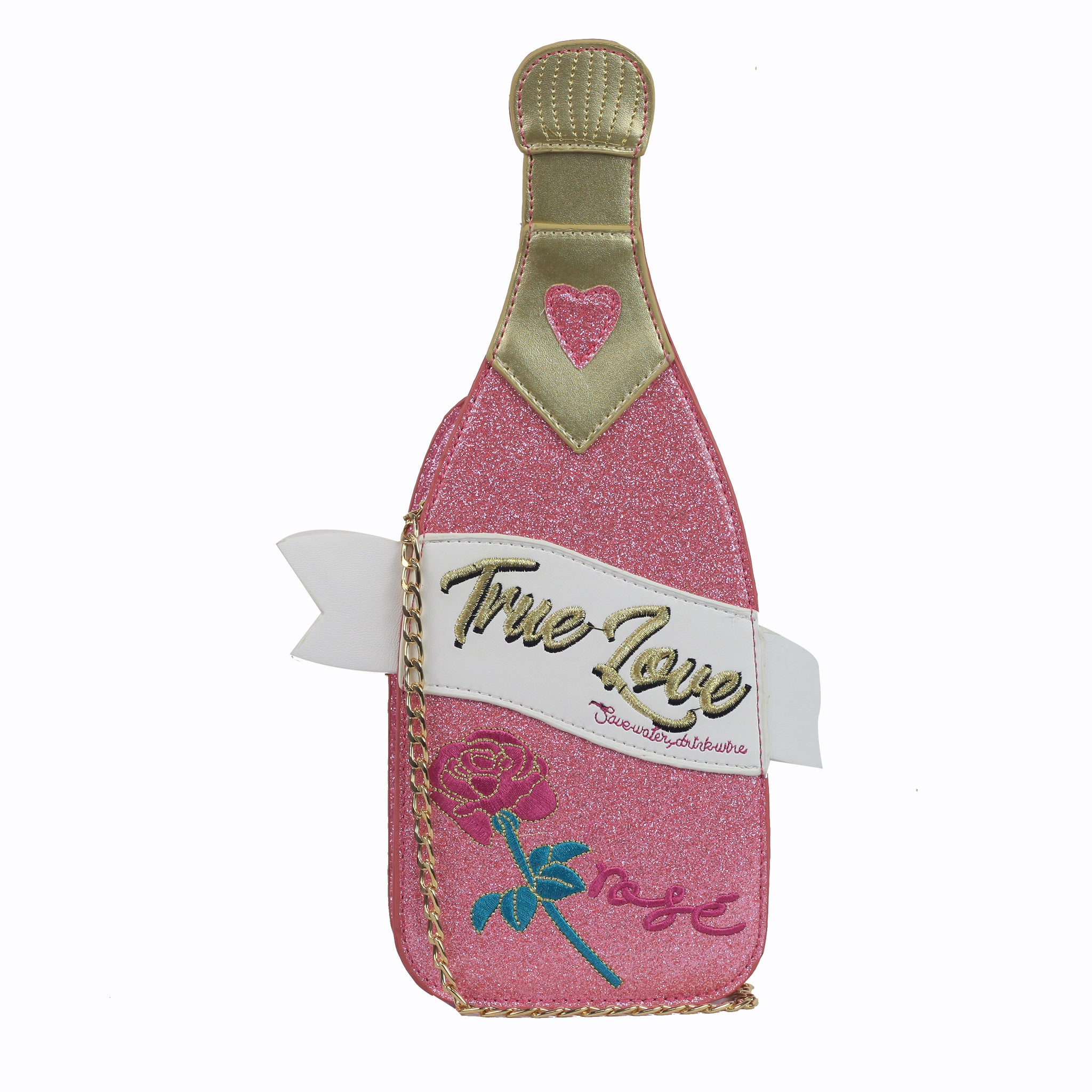 Champagne Bottle Bag - Pink