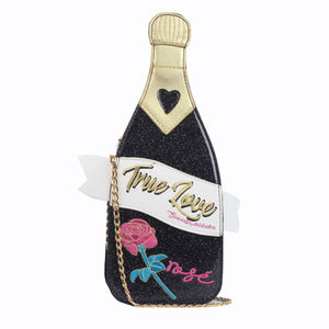 Champagne Bottle Bag - Black