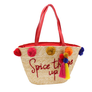 Spice Things Up Straw Bag