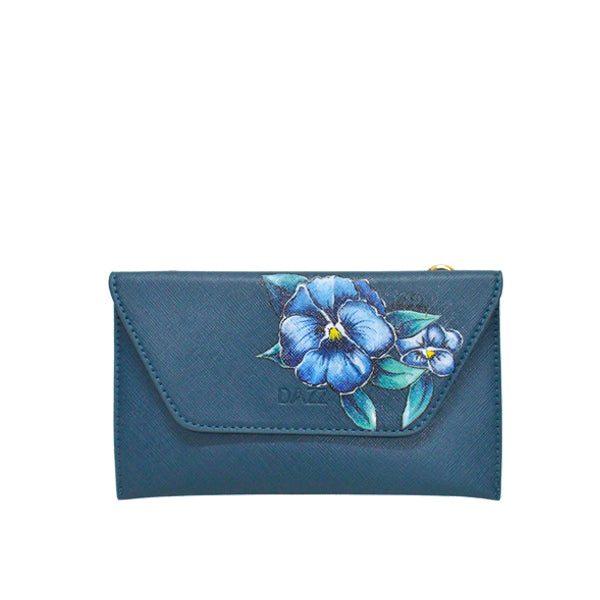 LIMITED EDITION: On the Go 'Electric Teal' Classic w Pansies