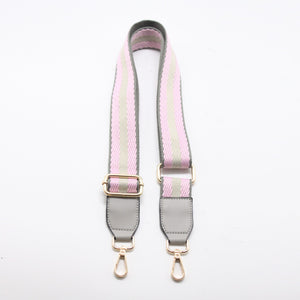 Stripes Canvas Shoulder Strap - Pink