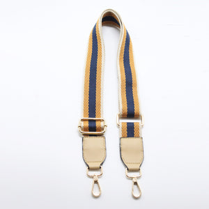 Stripes Canvas Shoulder Strap - Nude