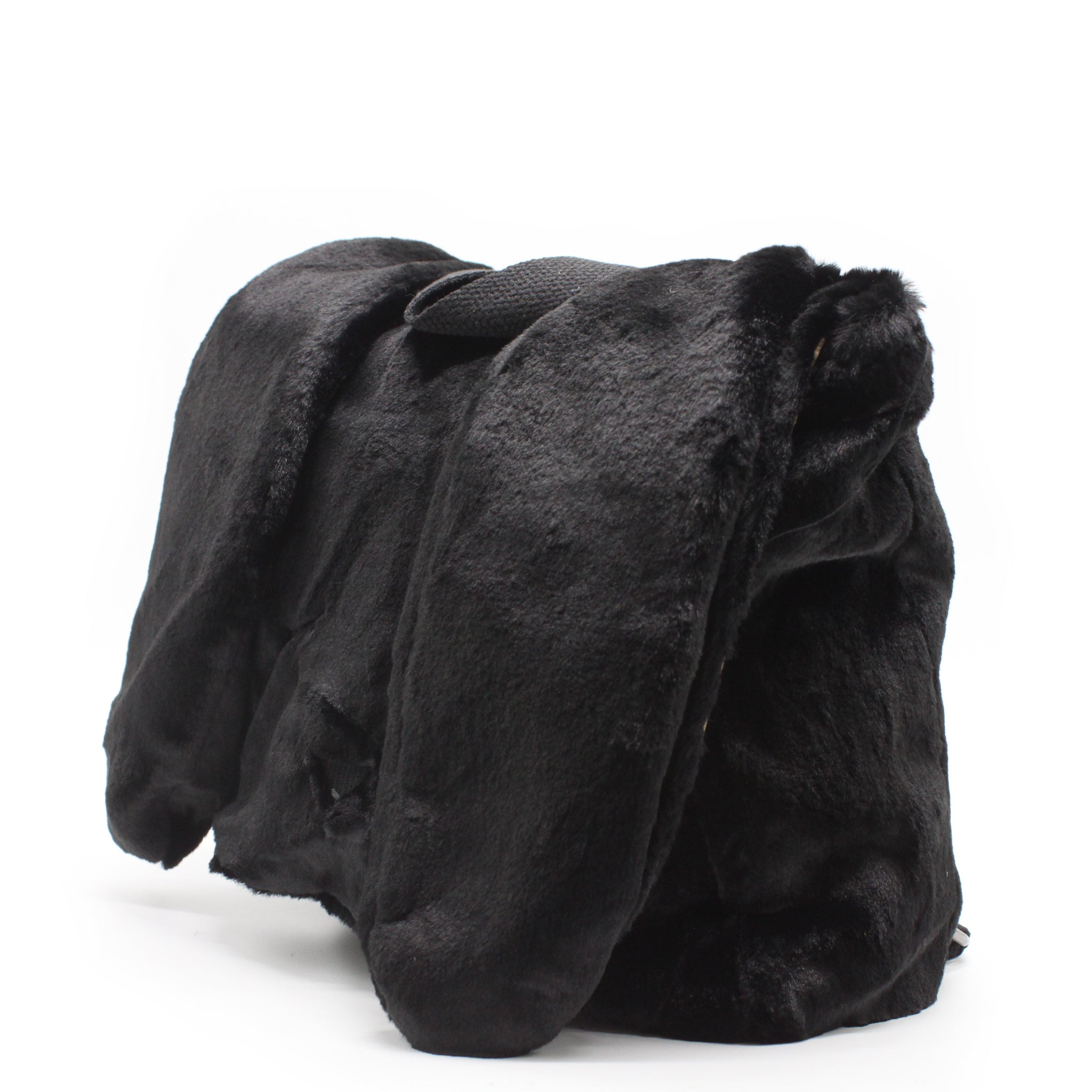 Bunny Fur Backpack - Black