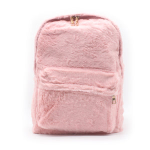 Fur Backpack - Pink