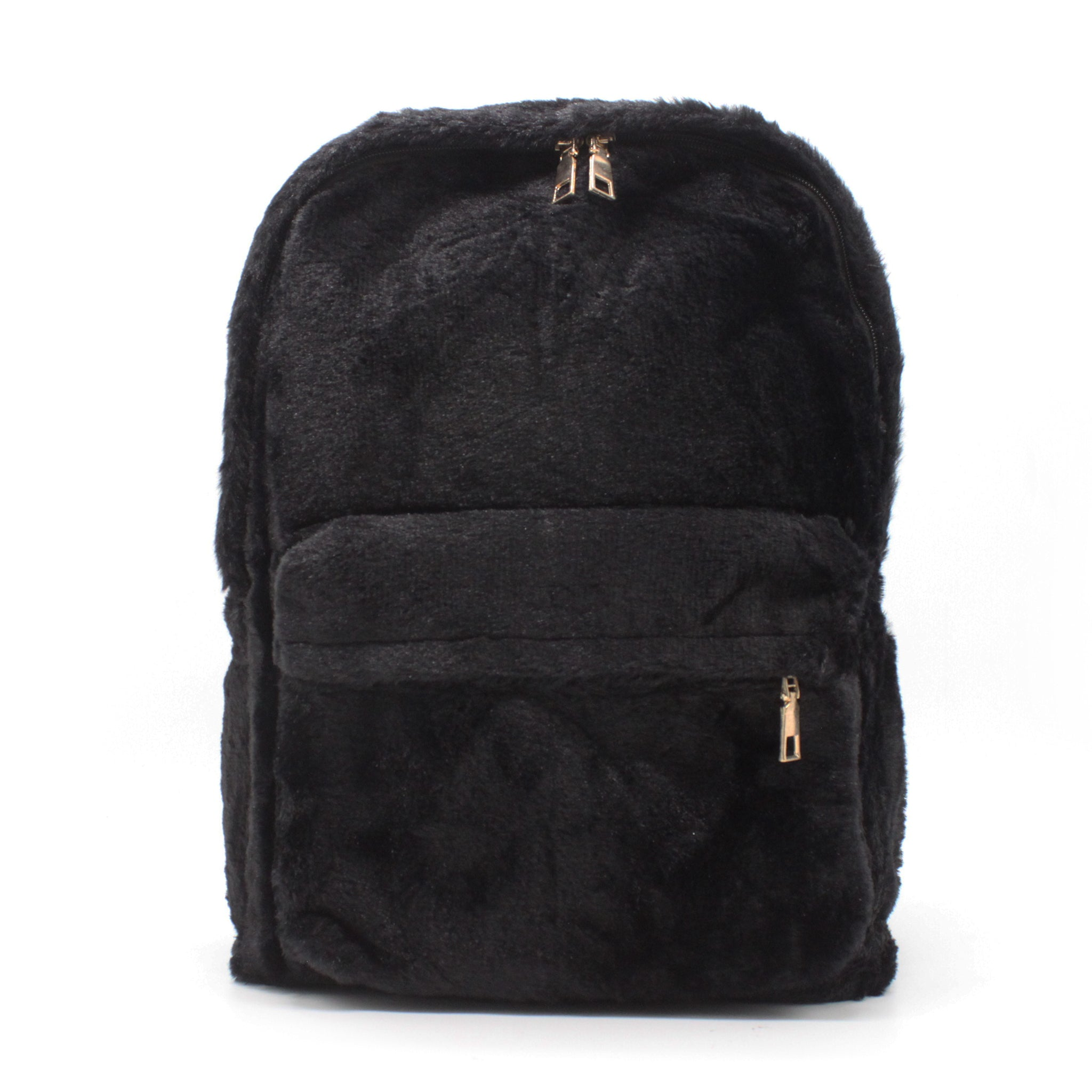 Fur Backpack - Black