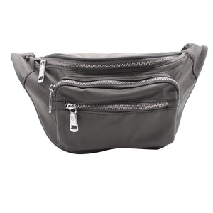 Nylon Chest Pack - Grey