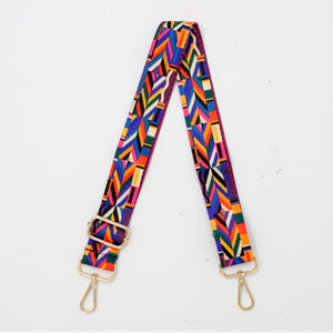 Color Block Canvas Shoulder Strap