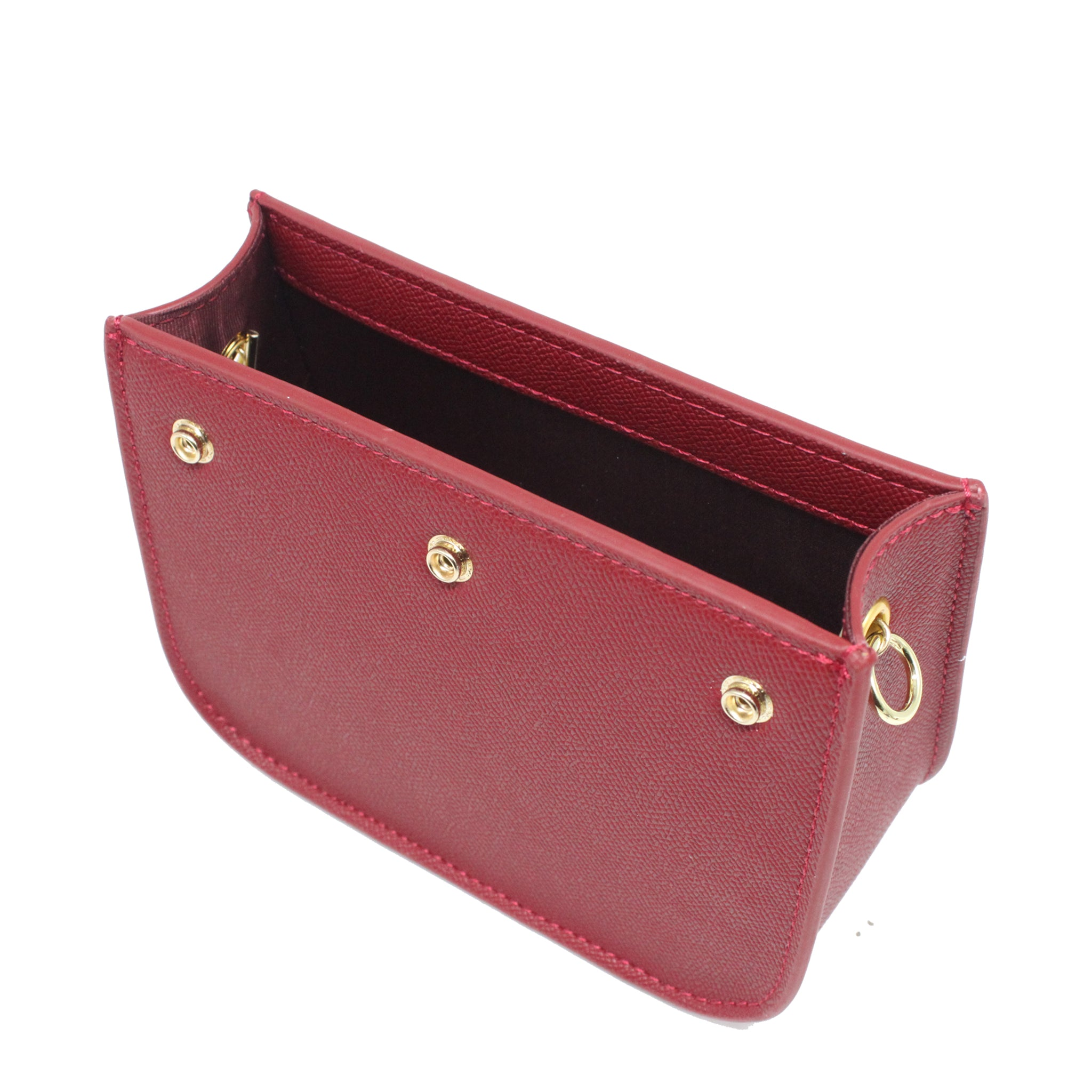 Interchangeable 2-Flaps Crossbody Bag - Red