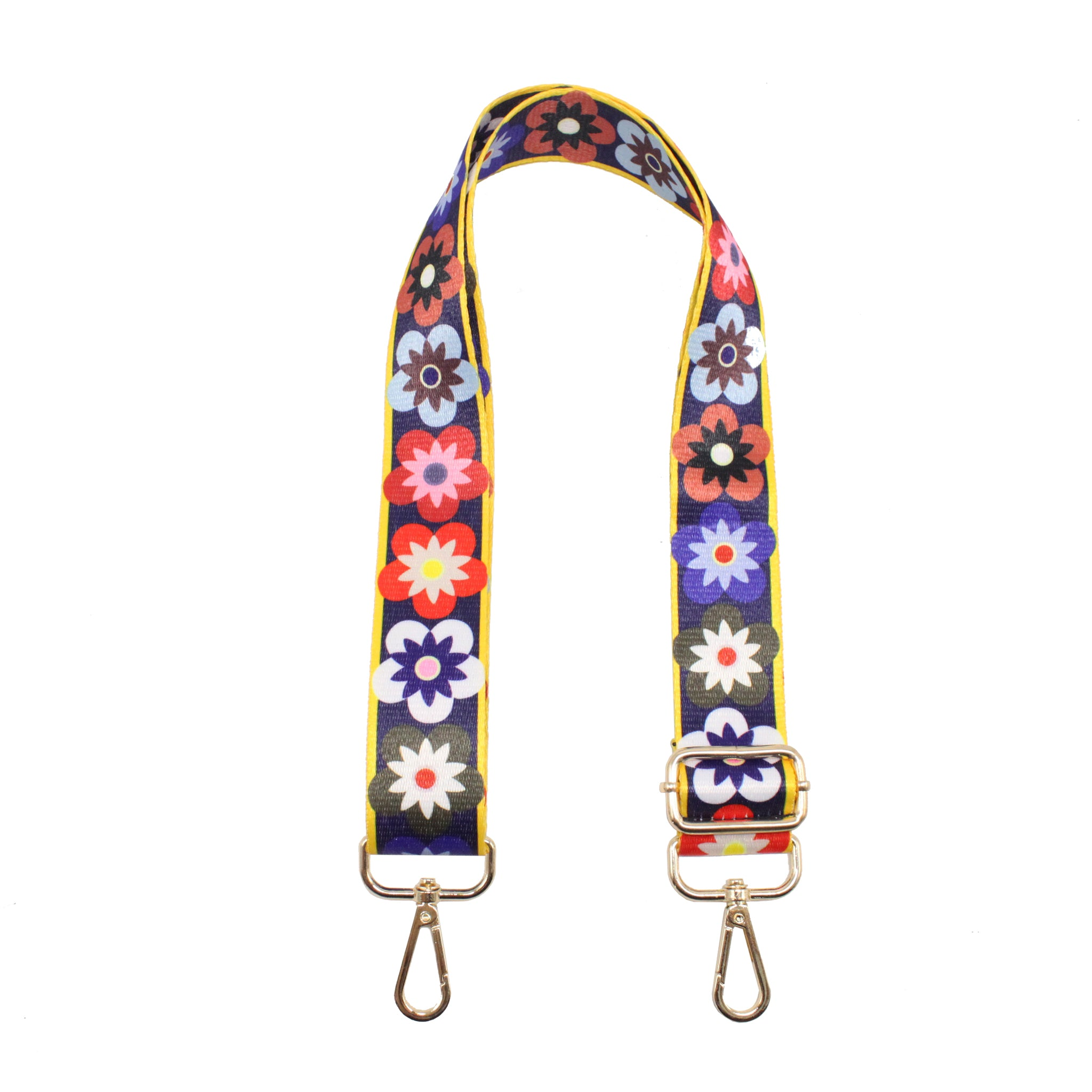 Spring Flower Canvas Strap