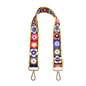 Spring Flower Nylon Shoulder Bag Strap