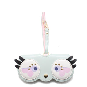 Glasses Case with Bag Holder – Owl Glasses Blue
