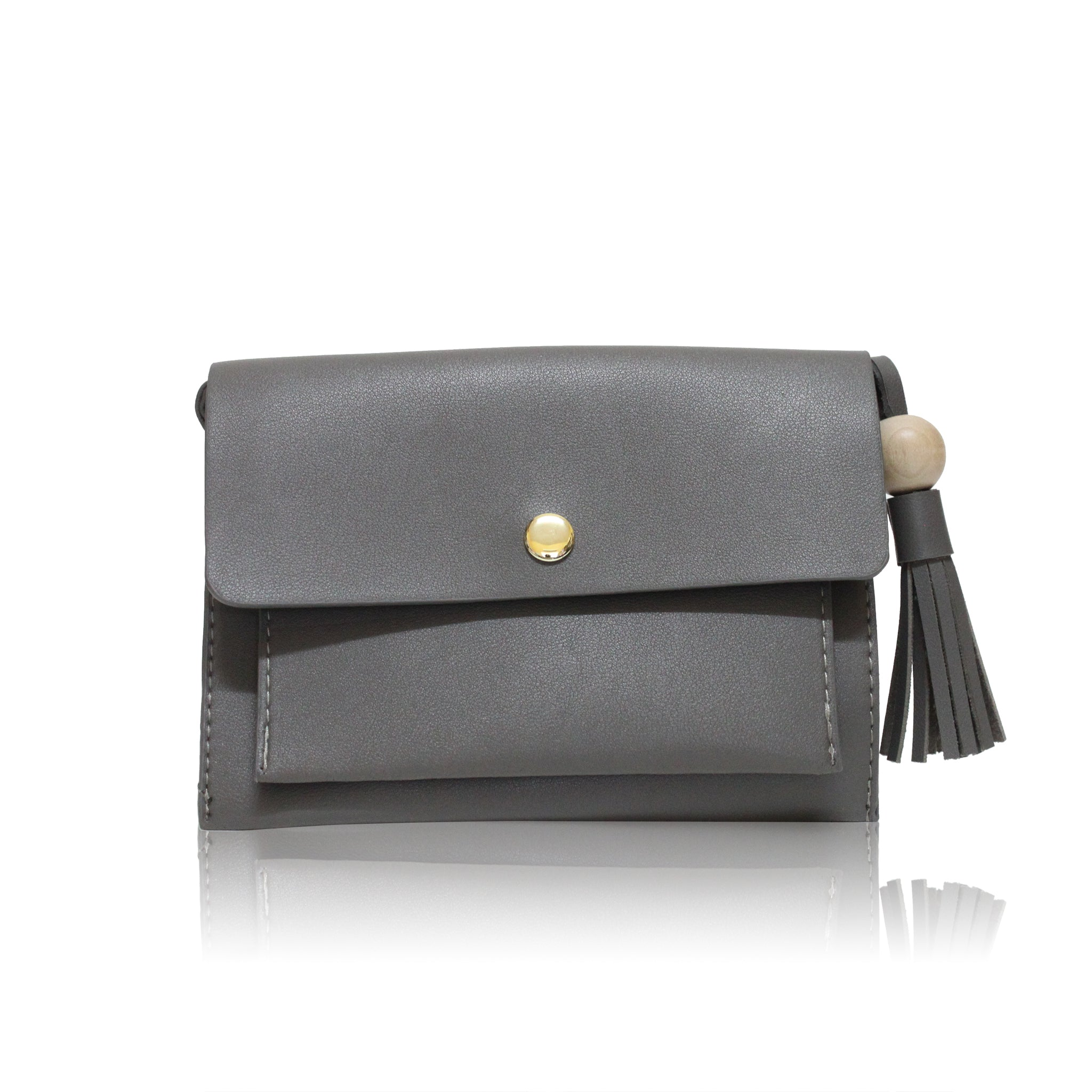 Mini Envelope Bobble Bag - Grey