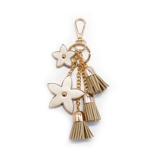 Pointed Flower Keychain - Gold