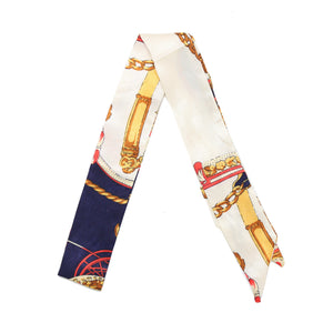 Golden Navy Twilly Scarf