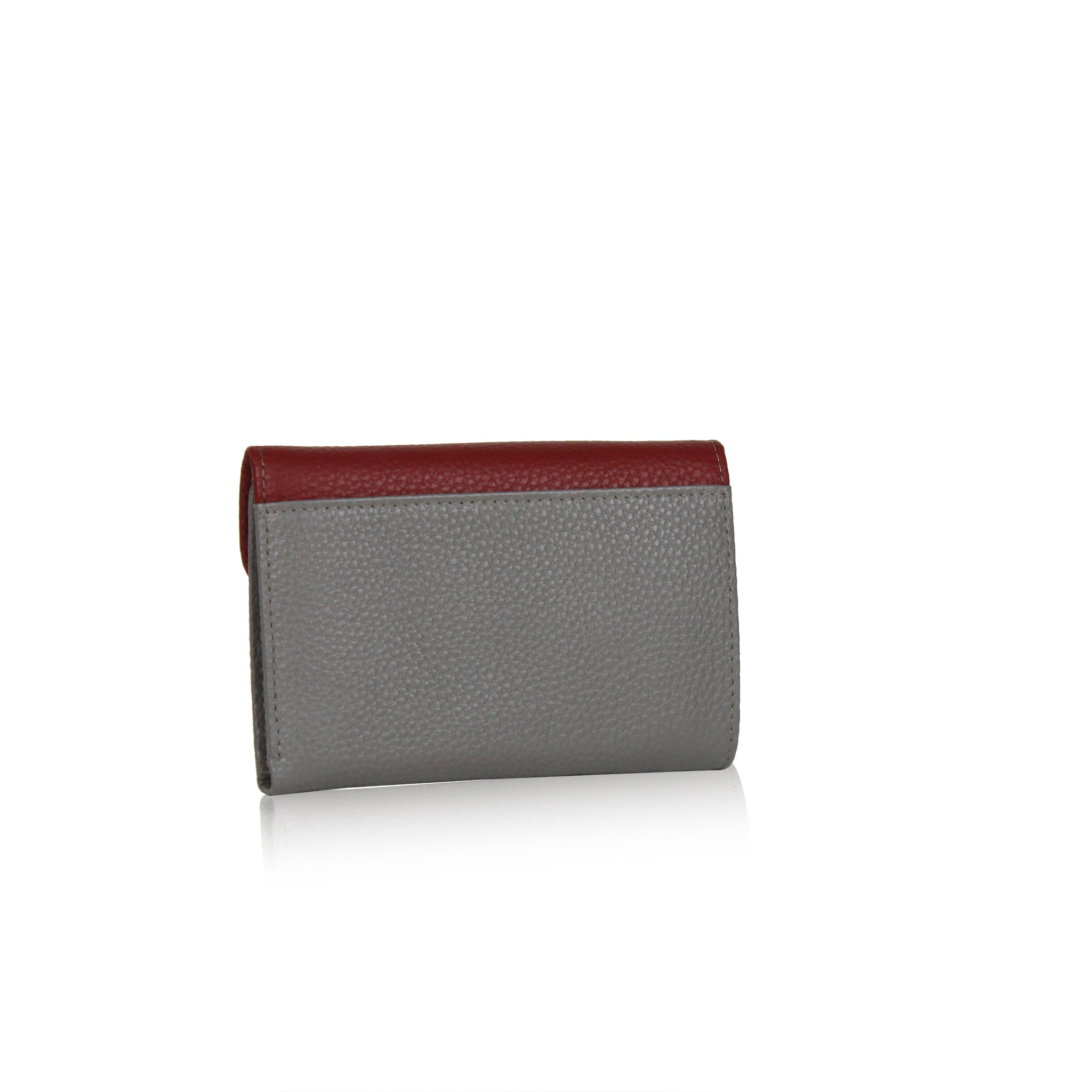 Calf Leather 2 tone Wallet - Red