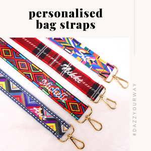 Personalised Bag Straps