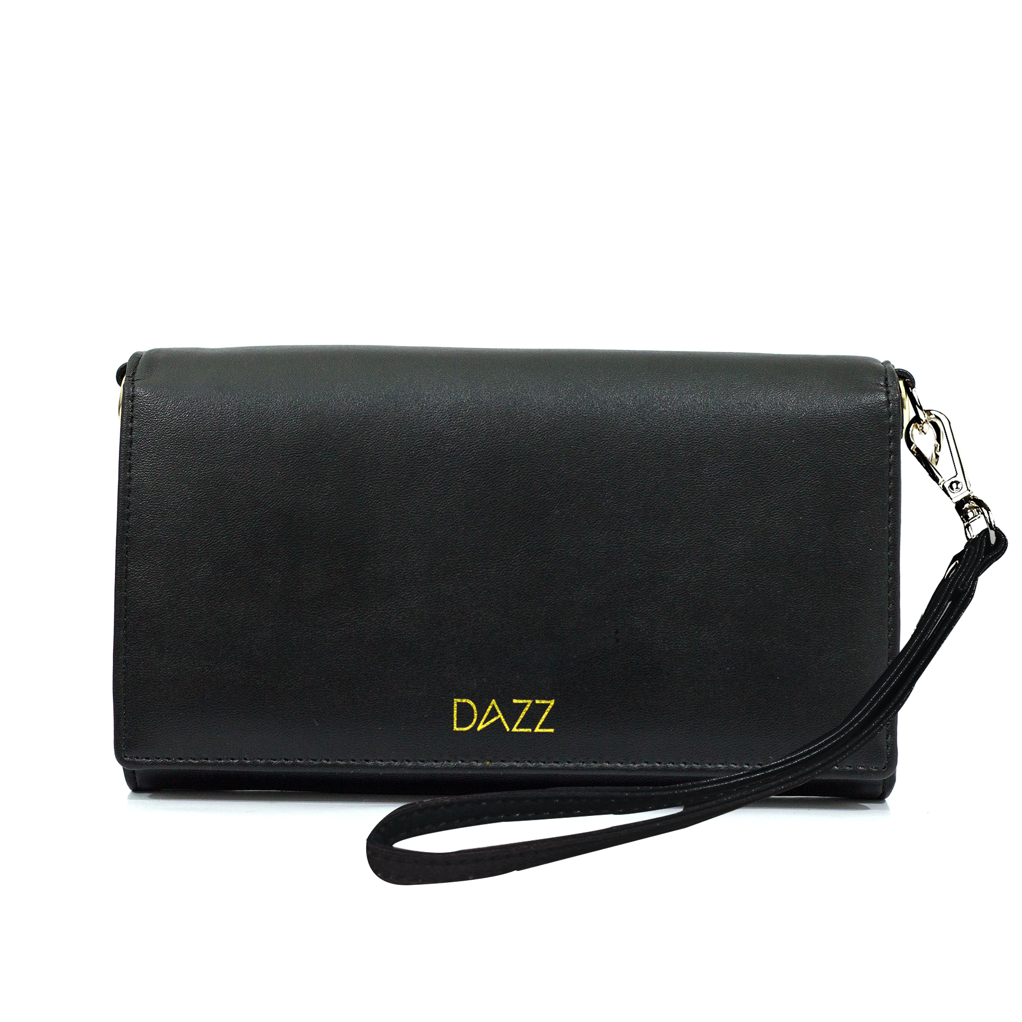 On the Go 'Brilliant Black' RFID Crossbody Bag by DAZZ