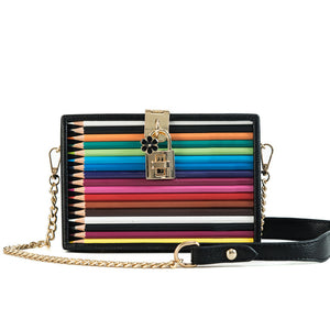 Colour Pencil Clutch Bag