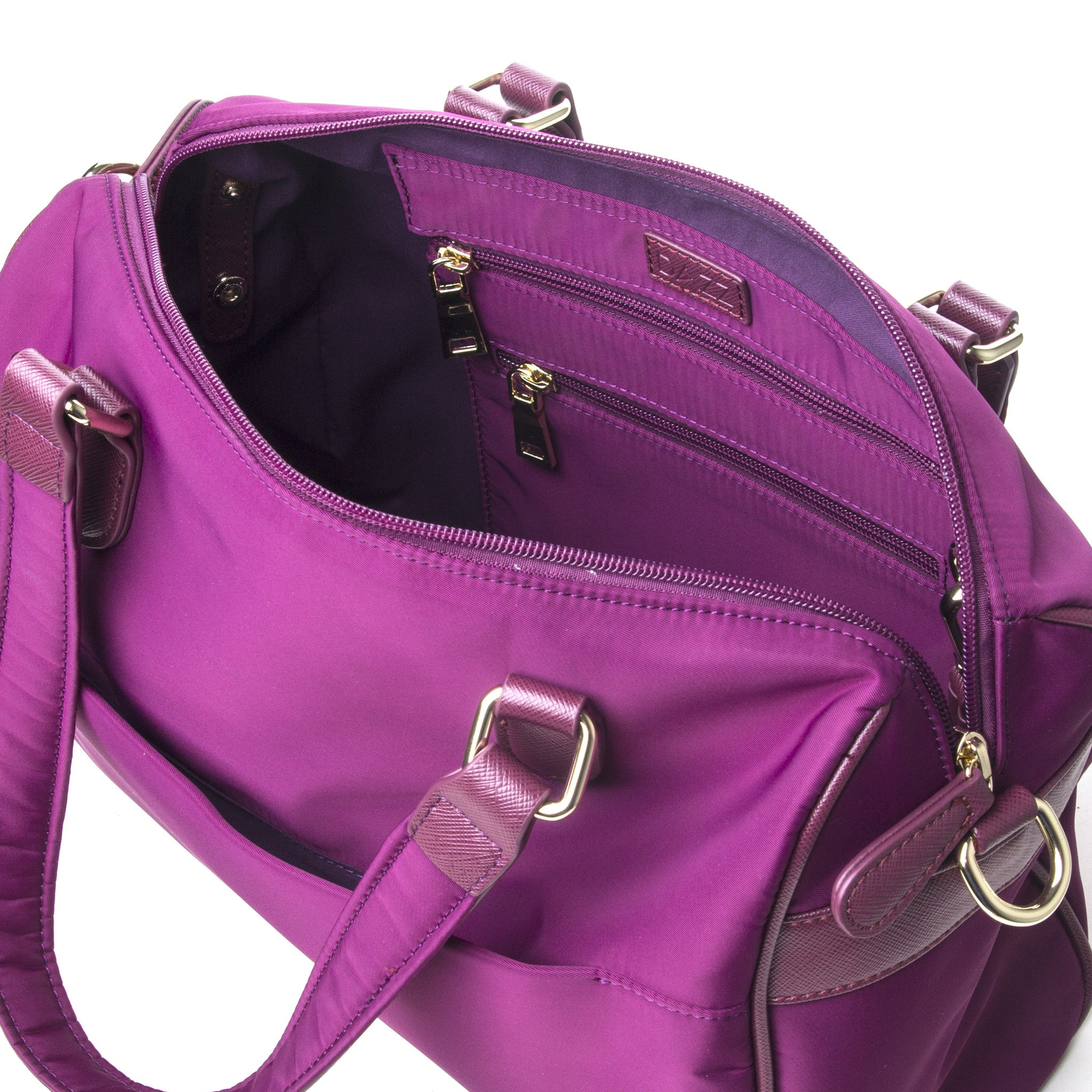 On the Go 4-in-1 Bag by DAZZ - Majestic Magenta/Electric Teal/Titanium Grey