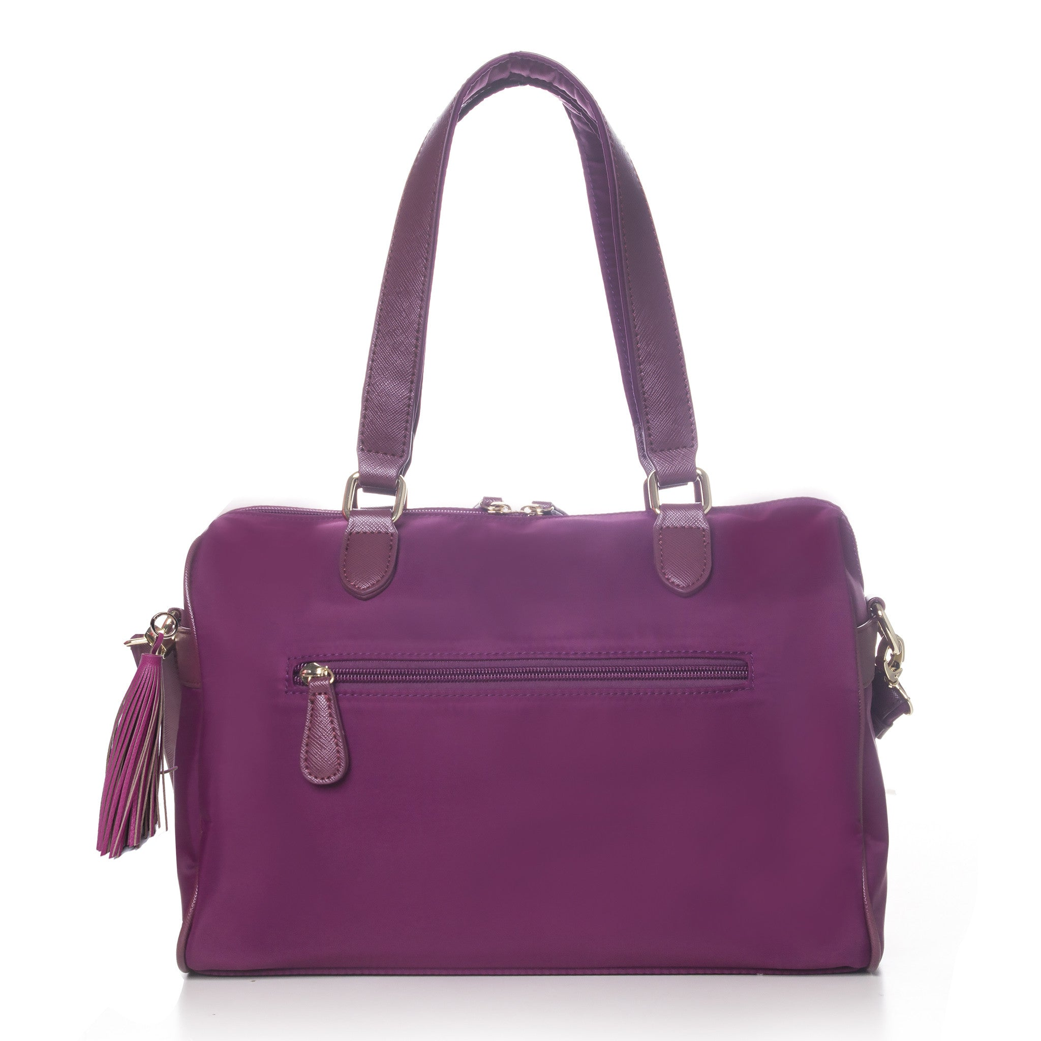 On the Go 3-in-1 Bag by DAZZ - Titanium Grey/Brilliant Black/Majestic Magenta/Lipstick Red/Electric Teal