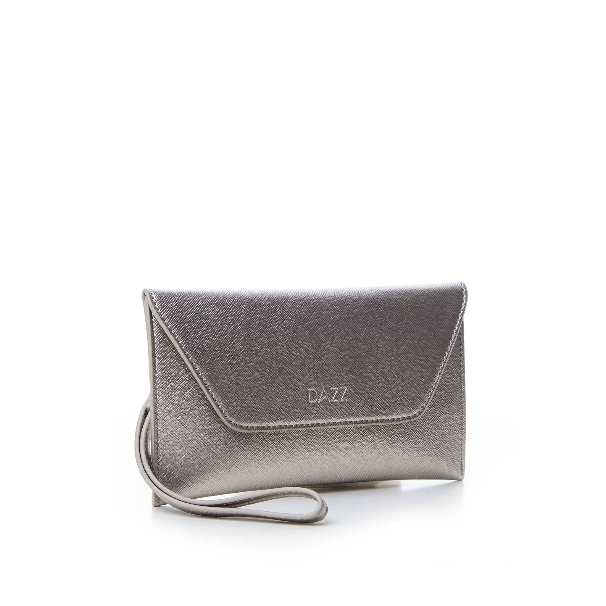 On the Go by Dazz Clutch - Metallic Silver