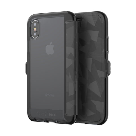 Tech21 Evo Wallet 3M / 10Ft Shock Absorbing Flip Folio Case For iPhone X