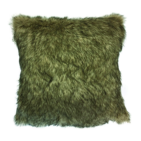 Cushion Brown Wolf Faux Fur