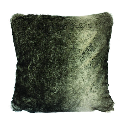 Cushion Grey Bear Faux Fur