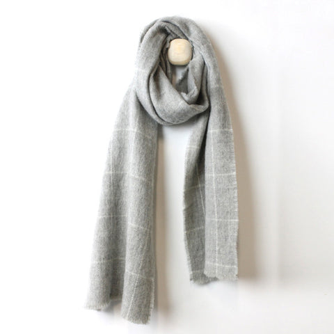 Scarf : Shefford Grey Wool