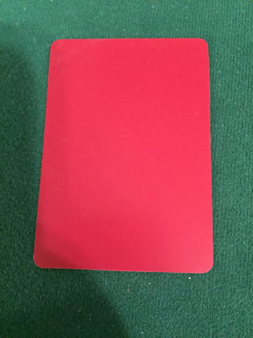 Poker size Cut Card RED