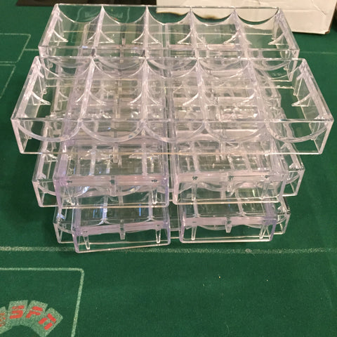 10pk Clear chip racks