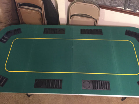 4-Fold Deluxe 8-10person Poker Table