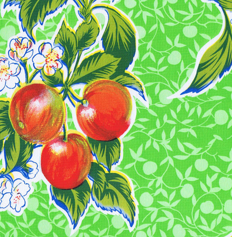 Lime Green Summer Fruit Oilcloth